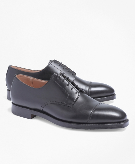 Peal & Co.® Straight Captoe Bluchers Black