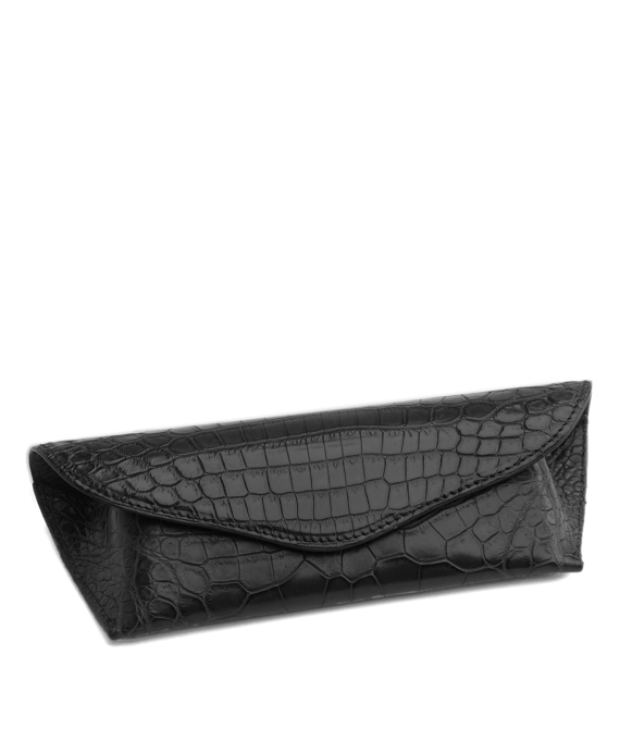 Alligator Eyeglass Case Black