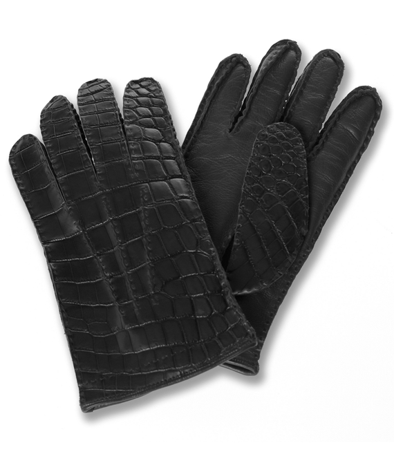Alligator Gloves Black