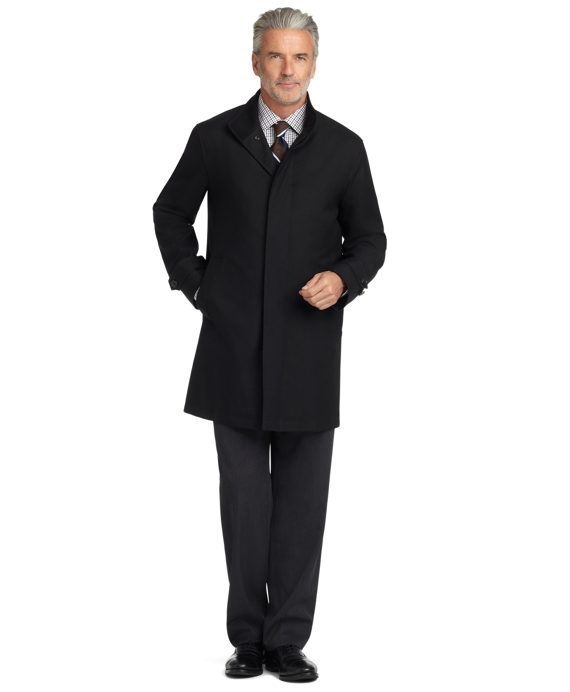 Wool Twill Traveler BrooksStorm® Coat Black