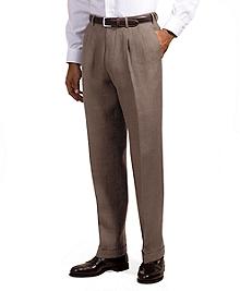 Irish Linen Pleat-Front Trousers