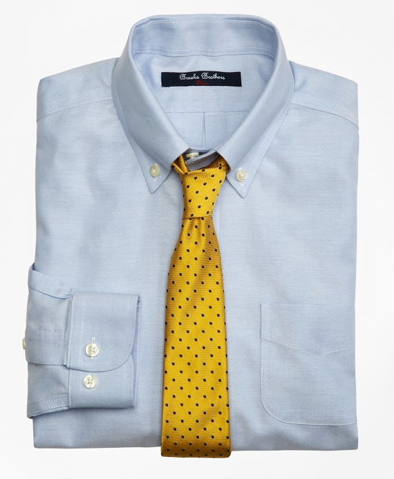 Non-Iron Supima® Oxford Button-Down Dress Shirt Blue