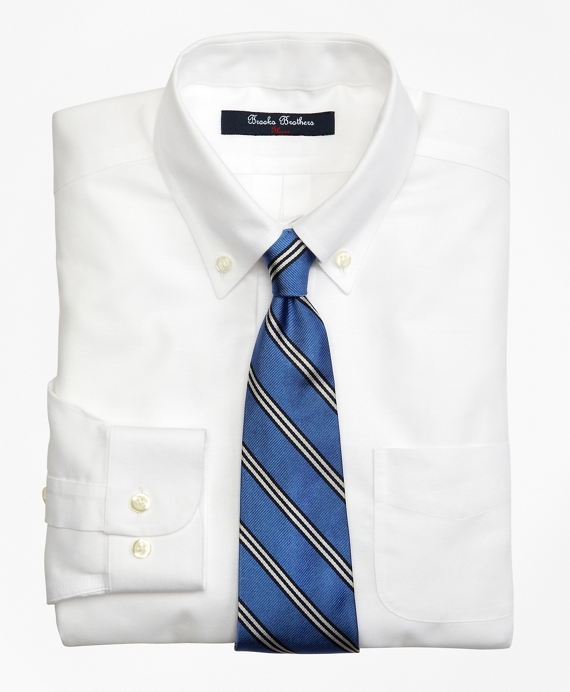 Non-Iron Supima® Oxford Button-Down Dress Shirt White