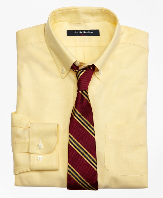 Non-Iron Supima® Oxford Button-Down Dress Shirt Yellow