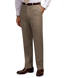 Irish Linen Plain-Front Trousers