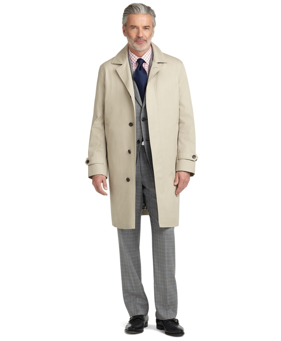 Single-Breasted Trench Coat Tan