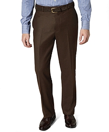 Madison Fit Plain-Front Flannel Trousers