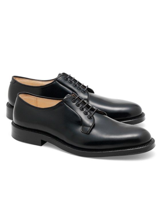 Cordovan Leather Bluchers Black