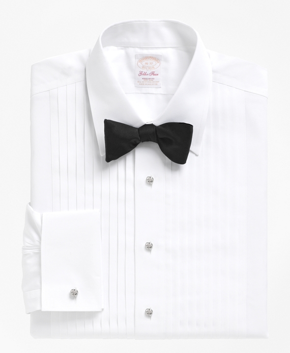Non-Iron Madison Fit Golden Fleece® Tuxedo Shirt White