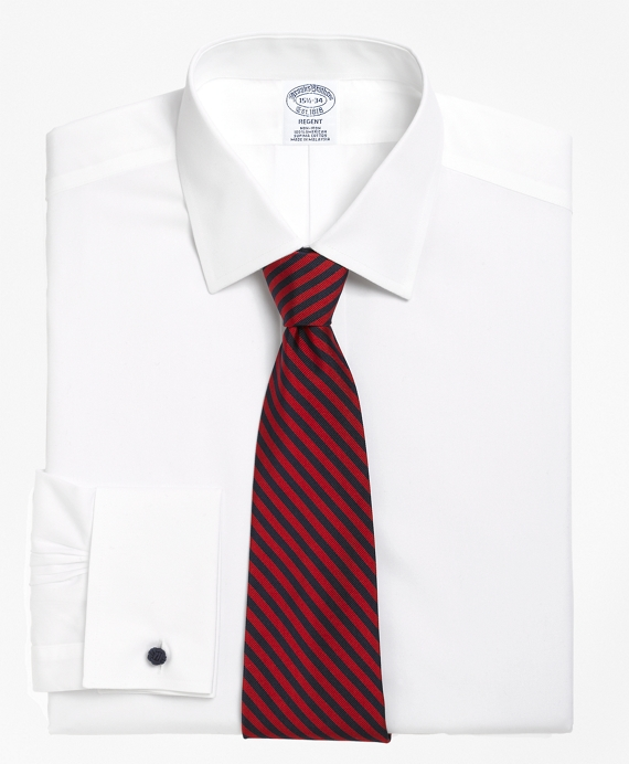 Non-Iron Slim Fit Spread Collar French Cuff Dress Shirt White