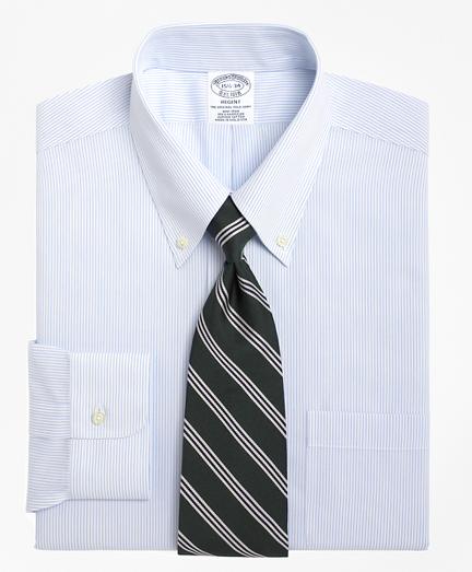 Regent Fitted Dress Shirt, Non-Iron Mini Pinstripe