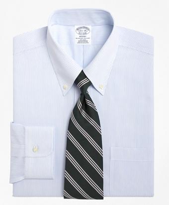 Non-Iron Regent Fit Mini Pinstripe Dress Shirt