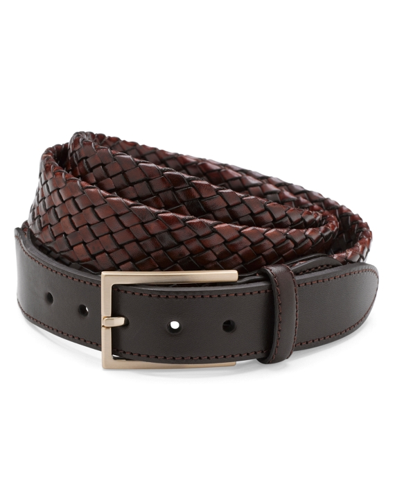 Tubular Woven Braided Belt Brown