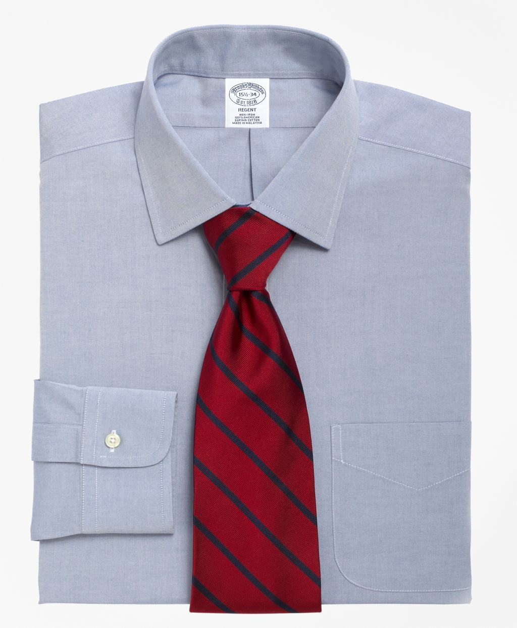 Men's Non-Iron Slim Fit Spread Collar Dress Shirt | Brooks Brothers