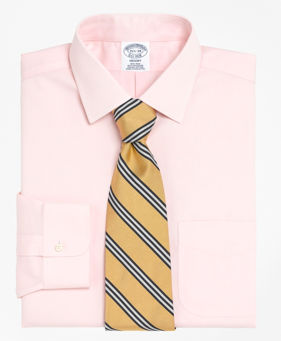 Non-Iron Regent Fit Spread Collar Dress Shirt Pink