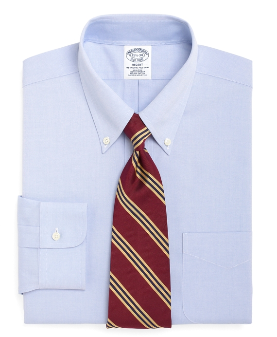Non-Iron Slim Fit Button-Down Collar Dress Shirt Light Blue