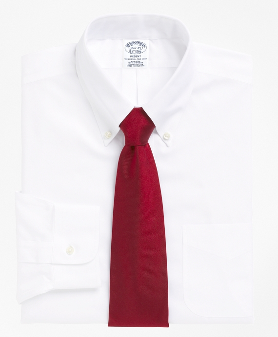 Non-Iron Slim Fit Button-Down Collar Dress Shirt White