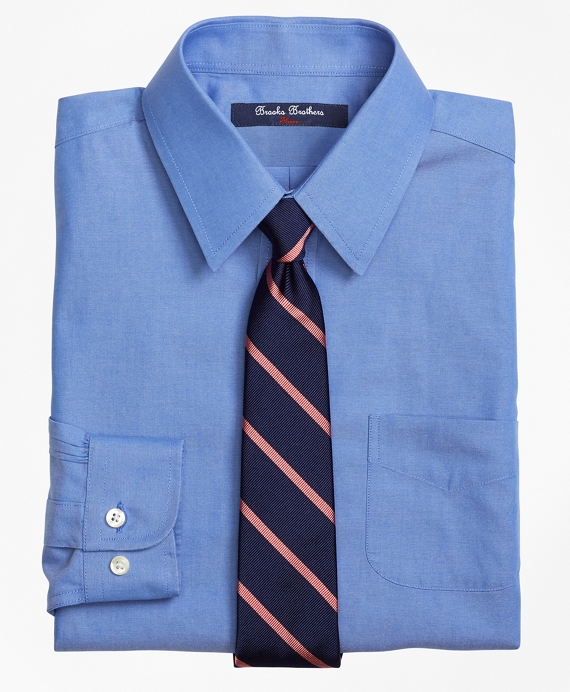 Non-Iron Supima® Pinpoint Cotton Dress Shirt French Blue