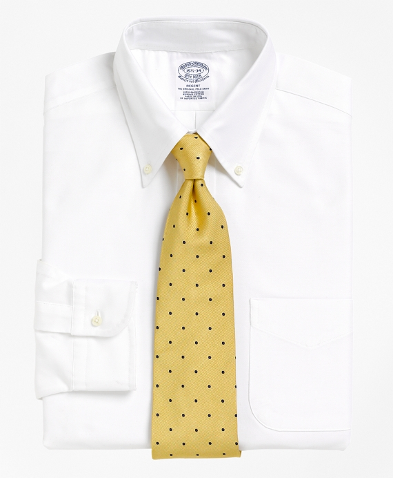 Regent Fit Button-Down Collar Dress Shirt White