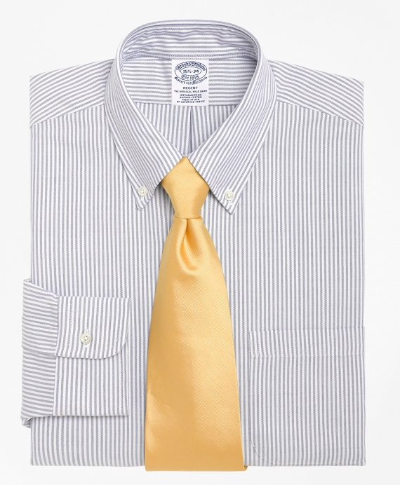 Slim Fit Stripe Dress Shirt Blue