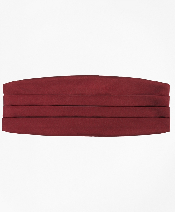 Four-Pleat Cummerbund Burgundy