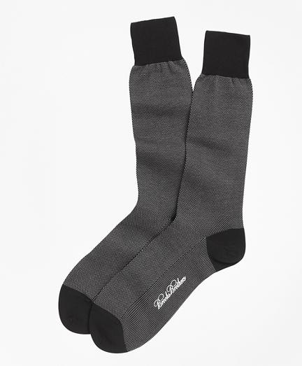 Cotton Bird's Eye Crew Socks