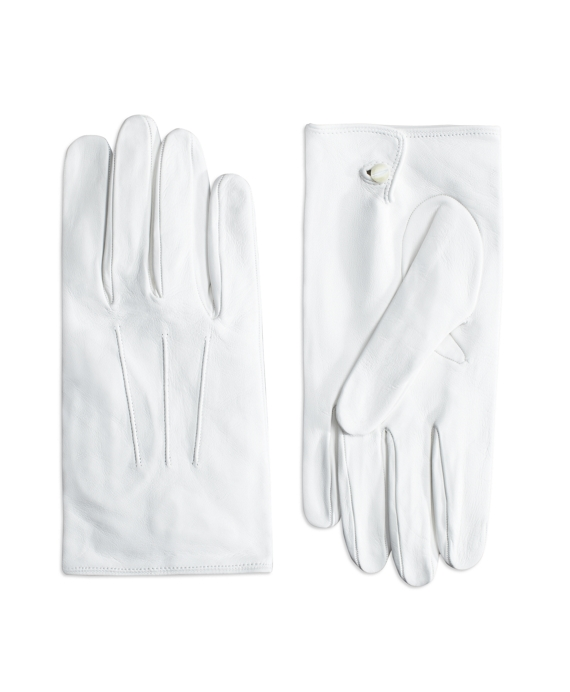 Edwardian Men's Accessories White Formal Gloves $148.00 AT vintagedancer.com