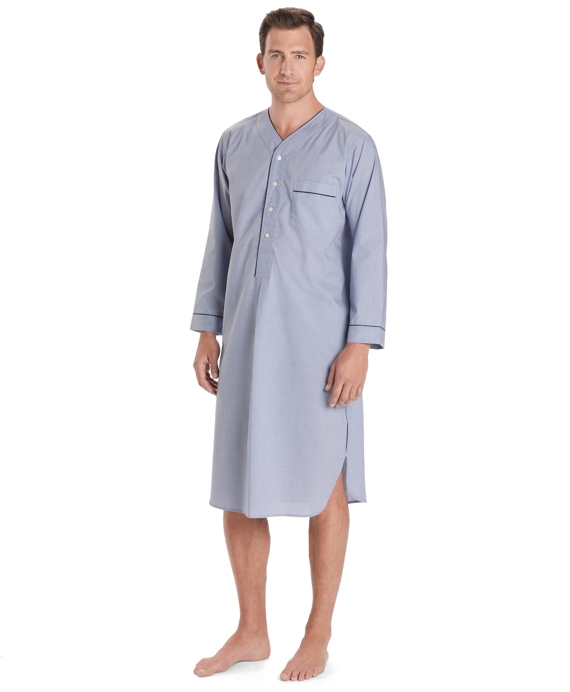 Men S Wrinkle Resistant Broadcloth Nightshirt Brooks