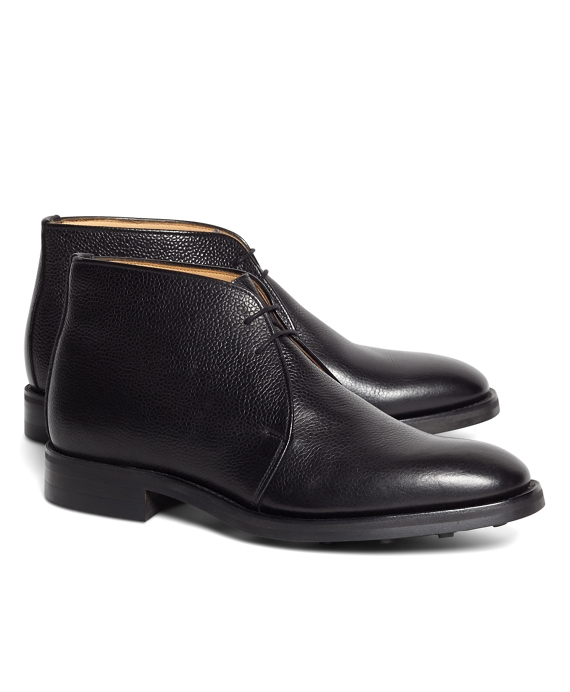 Peal & Co.® Pebble Grain Chukka Boots Black