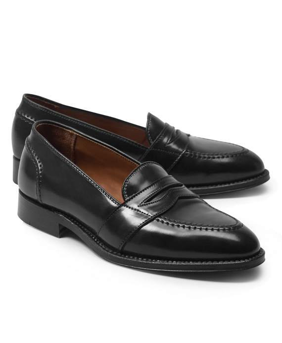 Calfskin Low Vamp Penny Loafers Black