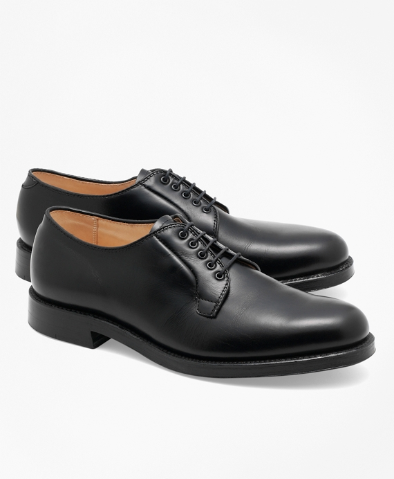 Calfskin Plaintoe Bluchers Black