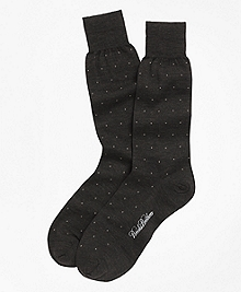 Merino Wool Big Dot Crew Socks
