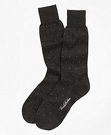 Merino Wool Big Dot Crew Socks