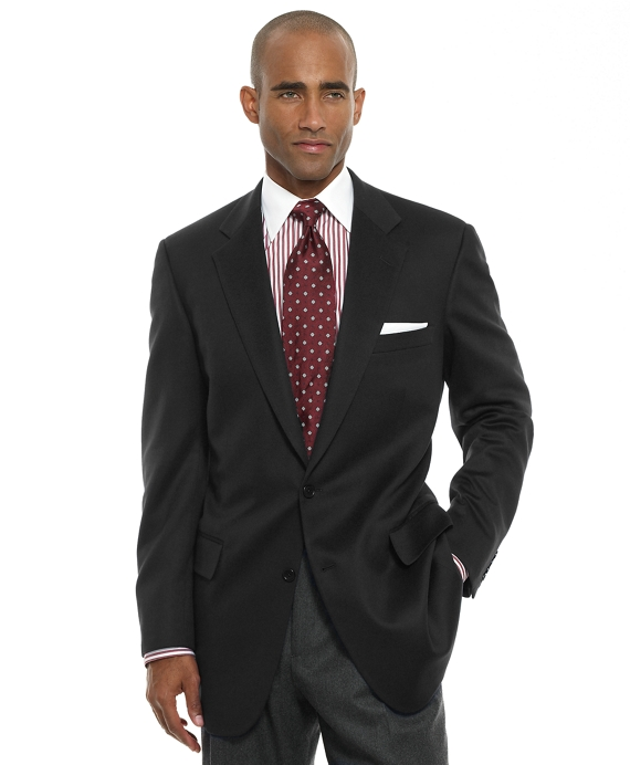 Madison Fit Two-Button Cashmere Sport Coat Black