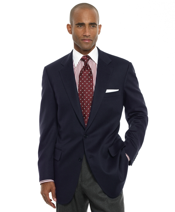 Madison Fit Two-Button Cashmere Sport Coat Navy