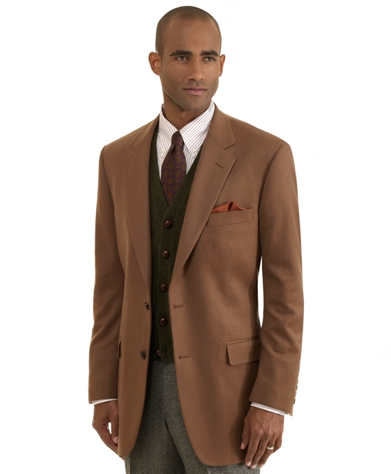 Madison Fit Two-Button Cashmere Sport Coat Vicuna