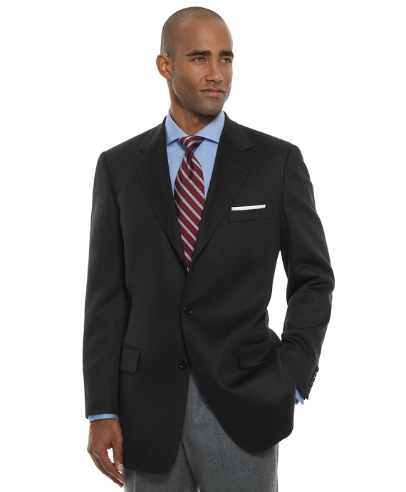 Three-Button Cashmere Sport Coat Black