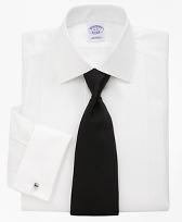 Bib-Front Spread Collar Formal Tuxedo Shirt