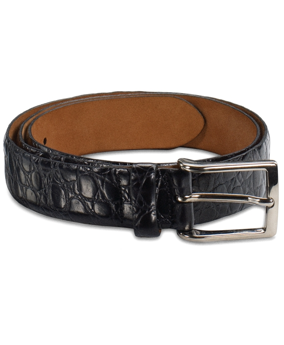 Alligator Dress Belt Black