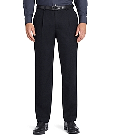 Regent Fit Pleat-Front Classic Gabardine Trousers