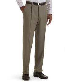 Regent Fit Pleat-Front Classic Gabardine Trousers