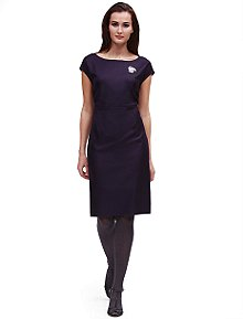 Wool Fine Twill Cap Sleeve Dress