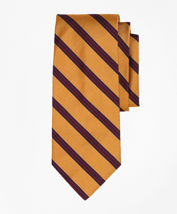 Mini BB#1 Repp Tie Gold-Burgundy