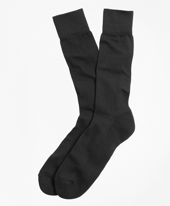 Cotton Cushion Sole Socks Black
