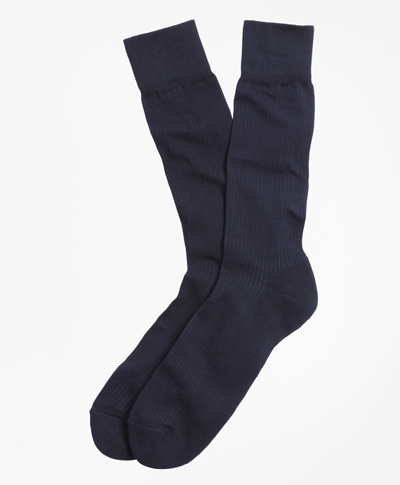 Cotton Cushion Sole Socks Navy