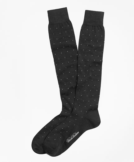 Merino Wool Big Dot Over-the-Calf Dress Socks