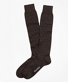 Merino Wool Big Dot Over-the-Calf Dress Socks