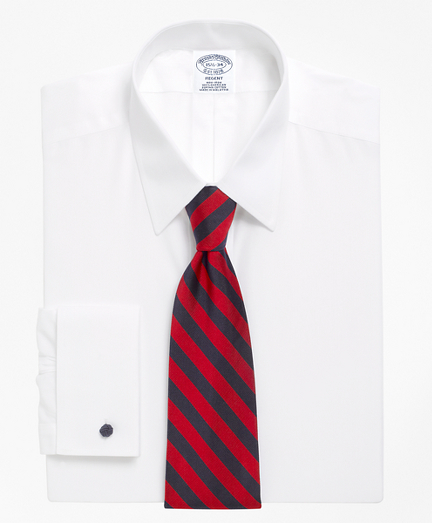 Regent Fitted Dress Shirt, Non-Iron Point Collar French Cuff