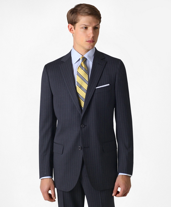 Fitzgerald Fit Two-Button 1818 Suit Navy Stripe