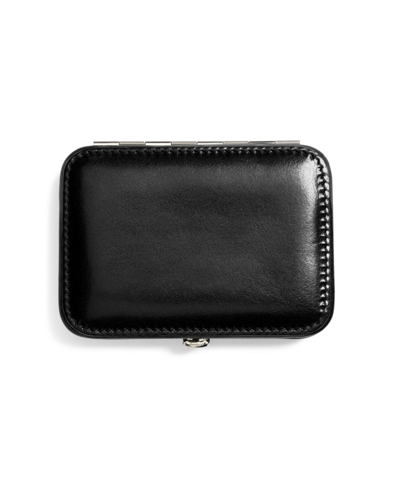 Leather Business Card Case Black